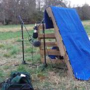 Front view of Mid-Side setup in the field