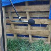 Close up of the AT825 stereo mic in the field